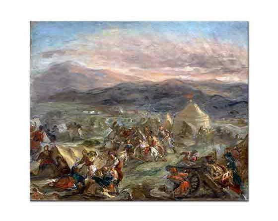 Eugene Delacroix Botzaris'in Türk Ordugahına Sürpriz Saldırısı