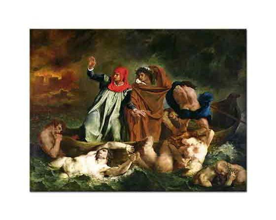 Eugene Delacroix Dante'nin Teknesi