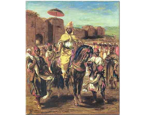 Eugene Delacroix Fas Sultanı ve Heyeti