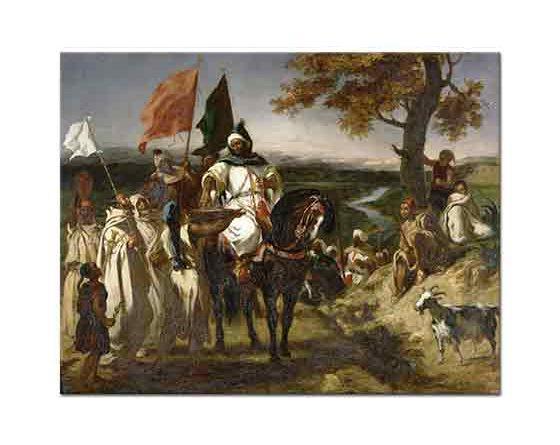Eugene Delacroix Faslı Şeyh Kabilesini Ziyaret ederken