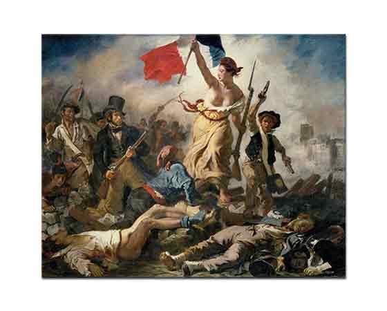 Eugene Delacroix Halka önderlik Eden özgürlük