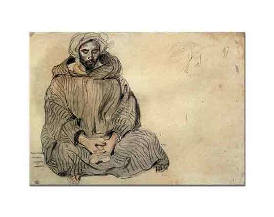 Eugene Delacroix Oturan Arap