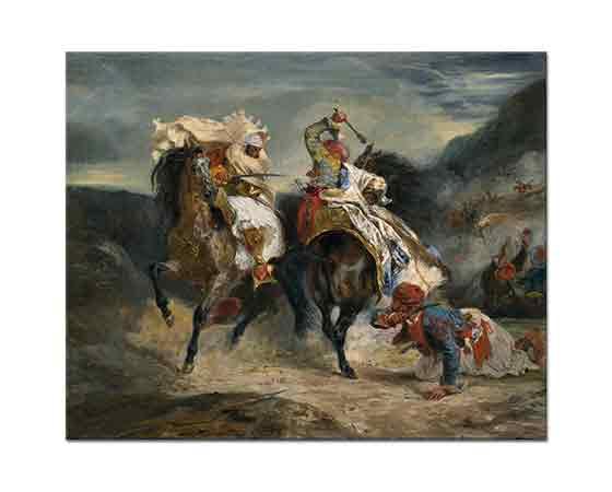 Eugene Delacroix Paşa ve Gavurun Mücadelesi