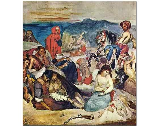 Eugene Delacroix Sakız Adasında Katliam
