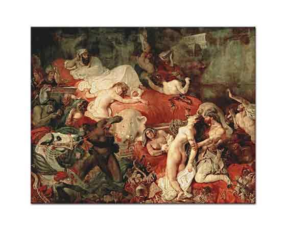Eugene Delacroix Sardanapalus'un ölümü