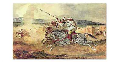 Eugene Delacroix Şehir önünde Savaş Oyunları