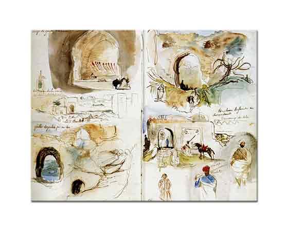 Eugene Delacroix Surlar Seyahat Eskizleri