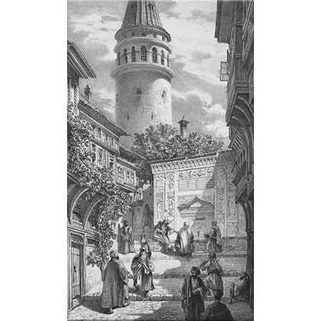 Eugene Flandin Galata Sokağı