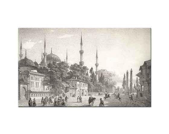 Eugene Napoleon Flandin Sultanahmet Camii ve Meydanı