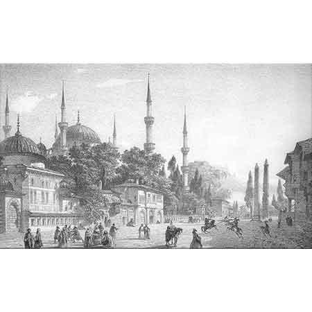 Eugene Flandin Sultanahmet Camii ve Meydanı