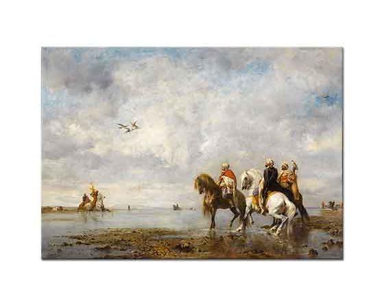Eugene Fromentin Şahinli Arap Avcılar Sahrada