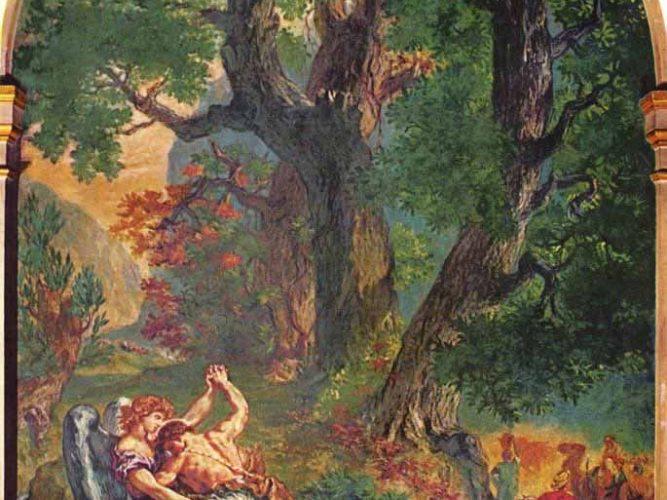Eugene Delacroix Yakup'un Melekle Savaşı