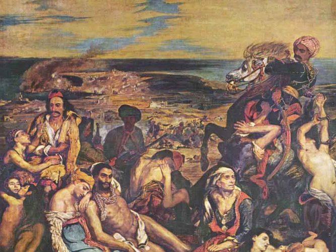 Eugene Delacroix Sakız Adası Katliamı