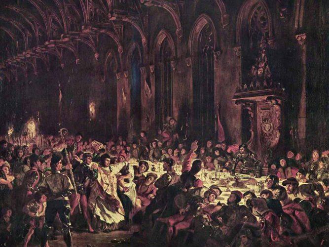 Eugene Delacroix Lüttich Piskoposu'nun öldürülmesi
