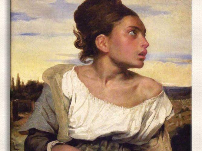 Eugene Delacroix Mezarlıkta Yetim Çocuk