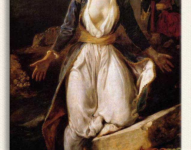 Eugene Delacroix Yunanistan'daki Missolonghi Harabeleri