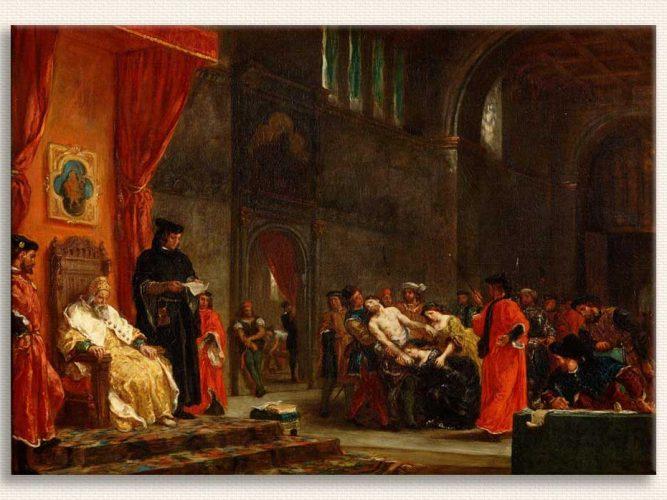 Eugene Delacroix iki Tutuklu tablosu