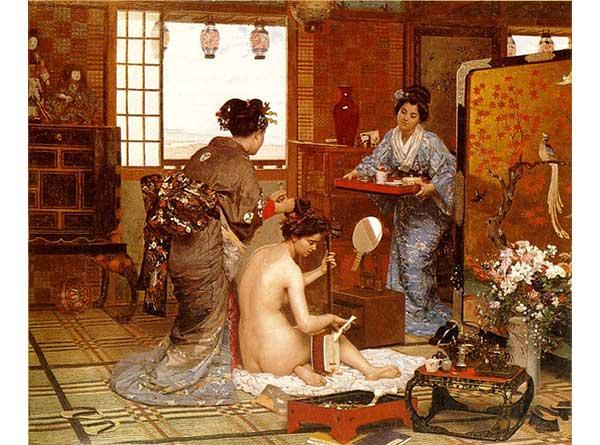 Marie Francois Firmin Girard Japon Tuvaleti