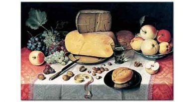 Floris Claesz van Dijck Meyveli ve Peynirli Natürmort