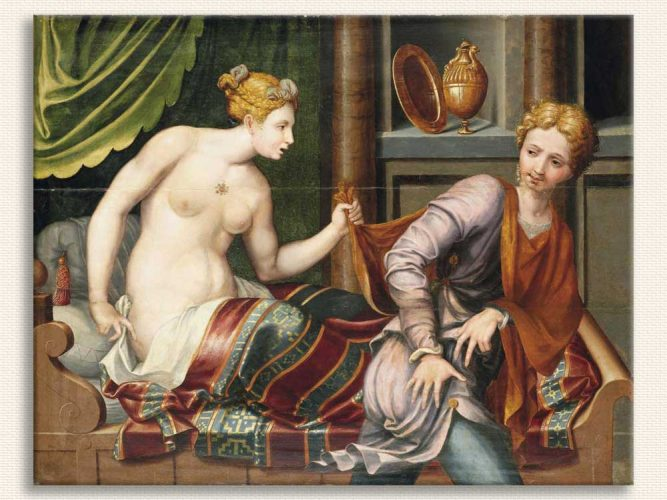 Fontainebleau Schol Joseph ve Potiphar
