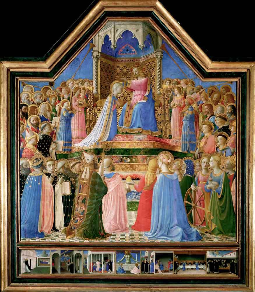 Fra Angelico Maria'nın Taç Giyme Töreni