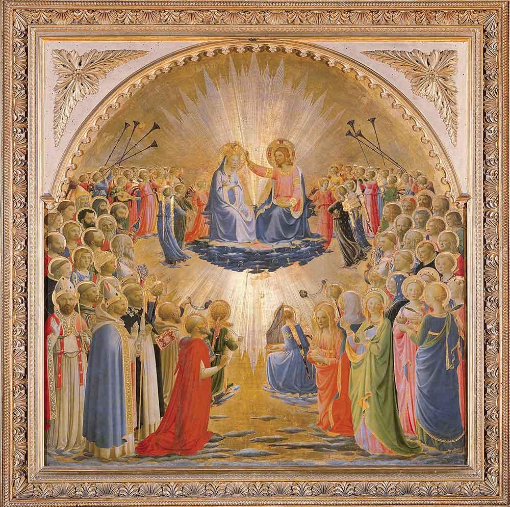 Fra Angelico Maria'nın Taç Giyme Töreninden