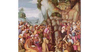 Francesco Bacchiacca Hz Musa Kayaların Arasından Su Çıkarırken