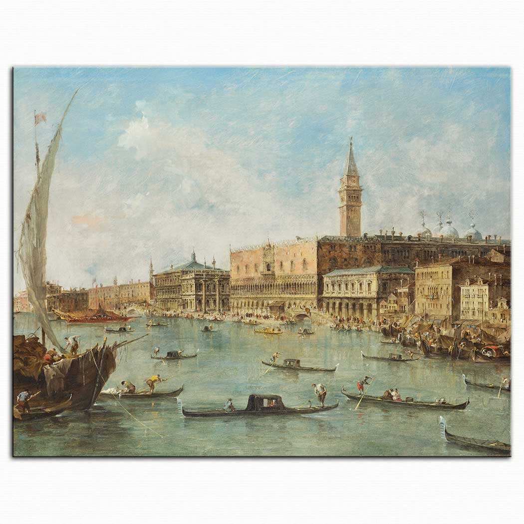 Francesco Guardi Doge Sarayı Venedik