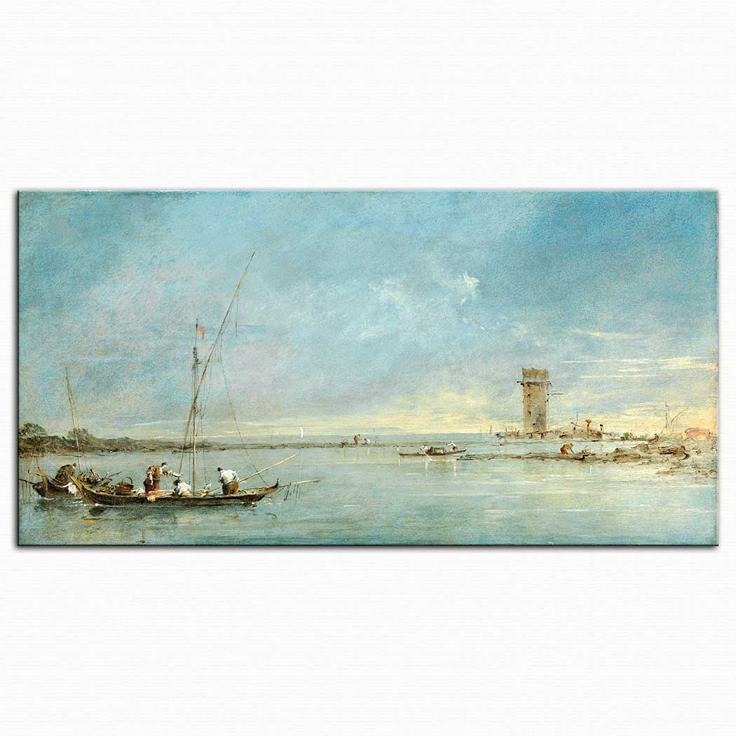 Francesco Guardi Lagune'den Bakış Venedik