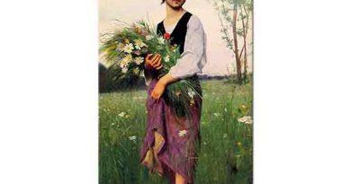 Francois Alfred Delobbe Çiçek Toplayıcısı