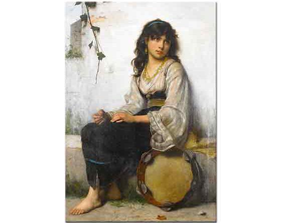 Francois Alfred Delobbe Küçük Defçi Kız