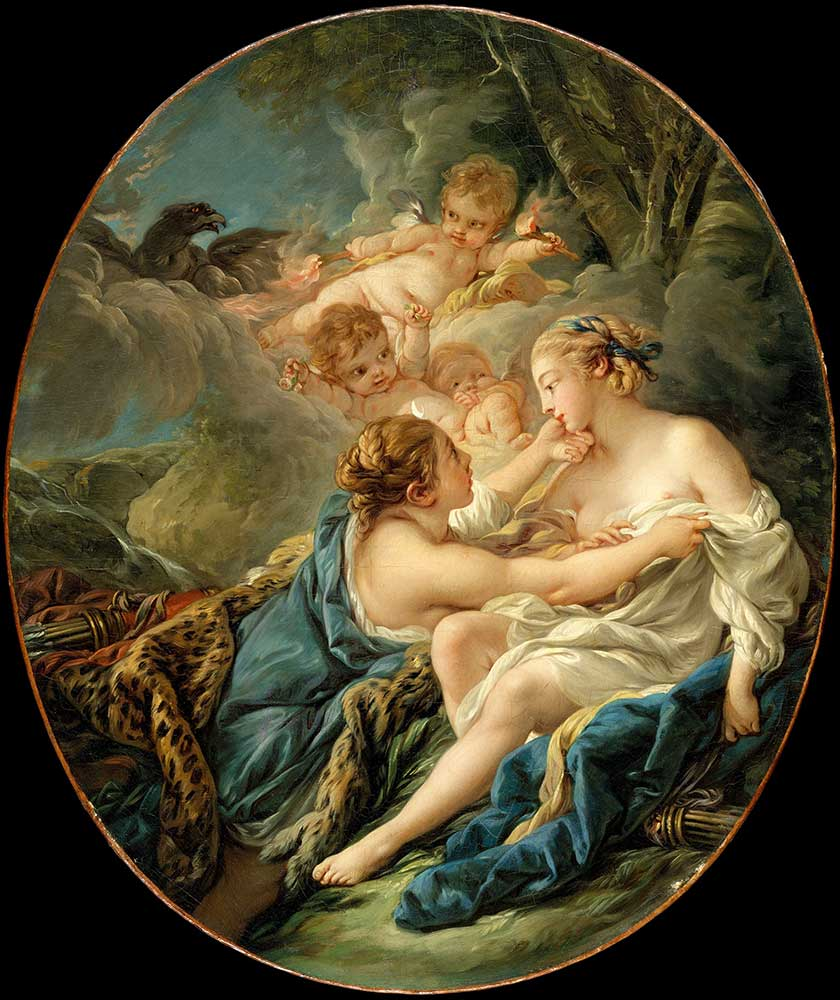François Boucher Diana Jüpiter ve Callisto