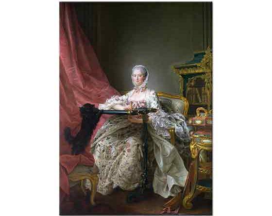 François Hubert Drouais Madame de Pompadour