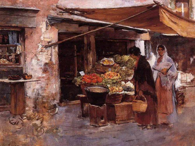 Frank Duveneck Venedik'te Meyve Dükkanı