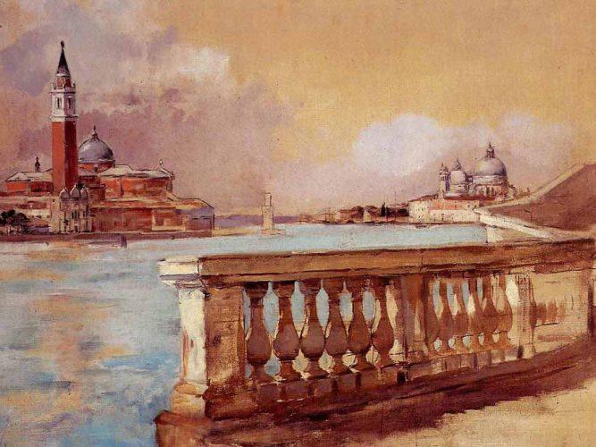 Frank Duveneck Venedik'te Grand Kanalı
