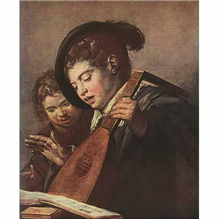 Frans Hals İki Çocuk Şarkı Söylerken