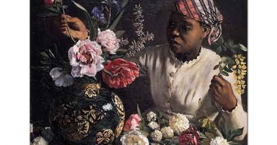 Frederic Bazille Afrikalı Kadın ve Şakayıklar