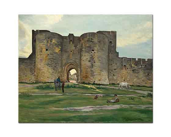 Frederic Bazille Aigue Kalesi Kraliçe Kapısı