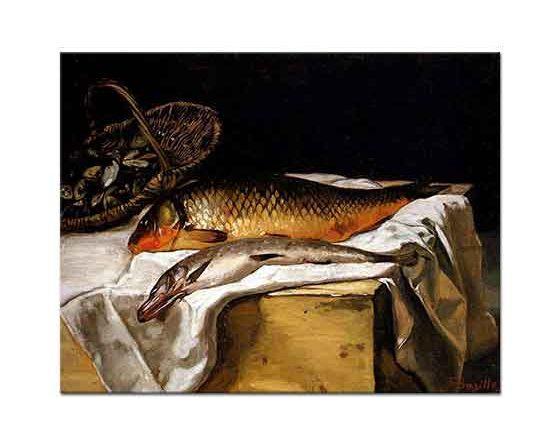 Frederic Bazille Balıklı Natürmort