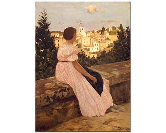 Frederic Bazille Pembe Elbise