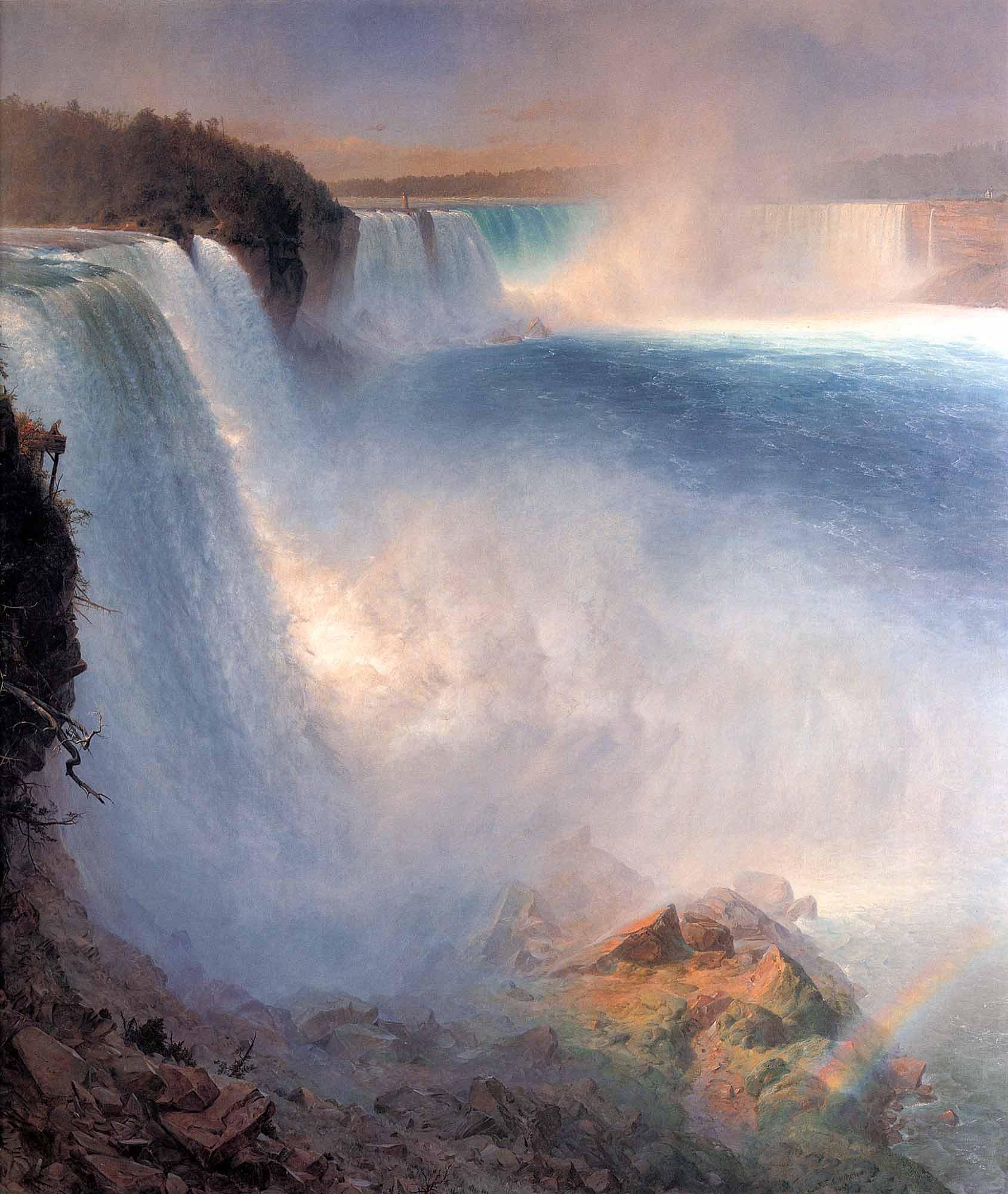 Frederic Edwin Church Amerika Tarafında Niagara Şelalesi