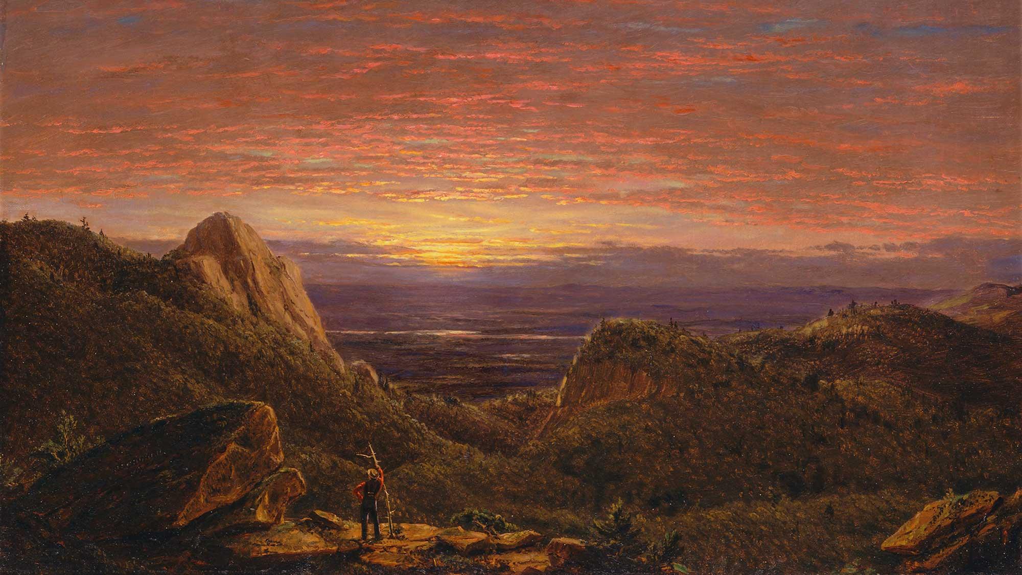 Frederic Edwin Church Catskill Dağlarında Sabah