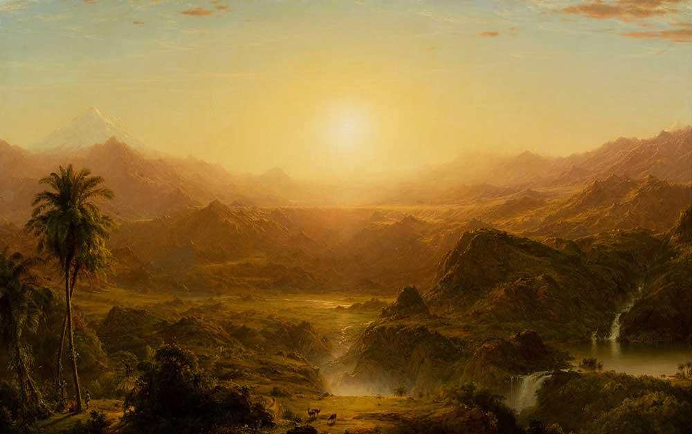 Frederic Edwin Church Ekvator'da And Dağları