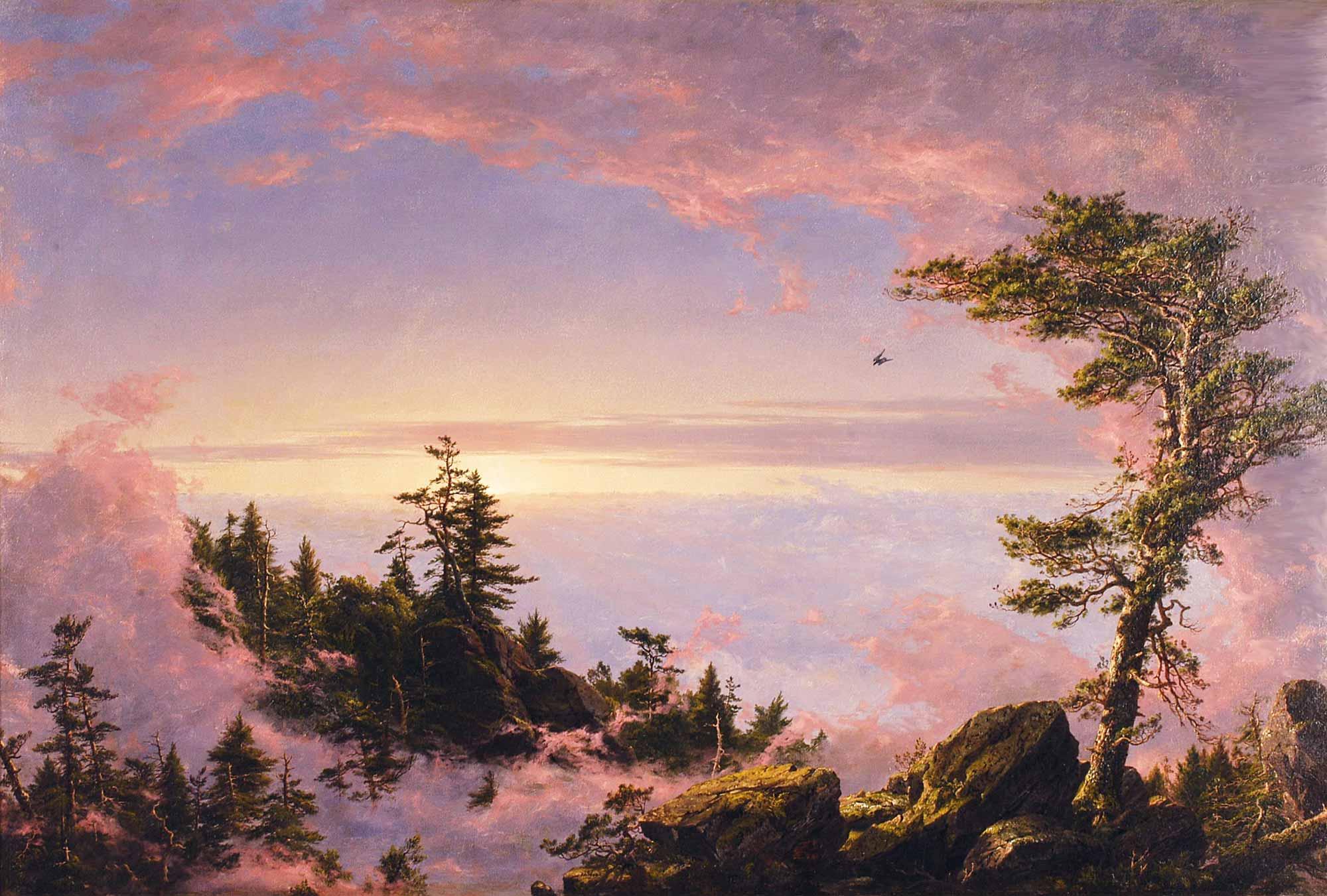 Frederic Edwin Church Gün doğumunda Bulutların Üstü