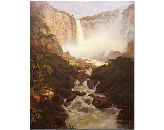 Frederic Edwin Church Tequendama Şelalesi