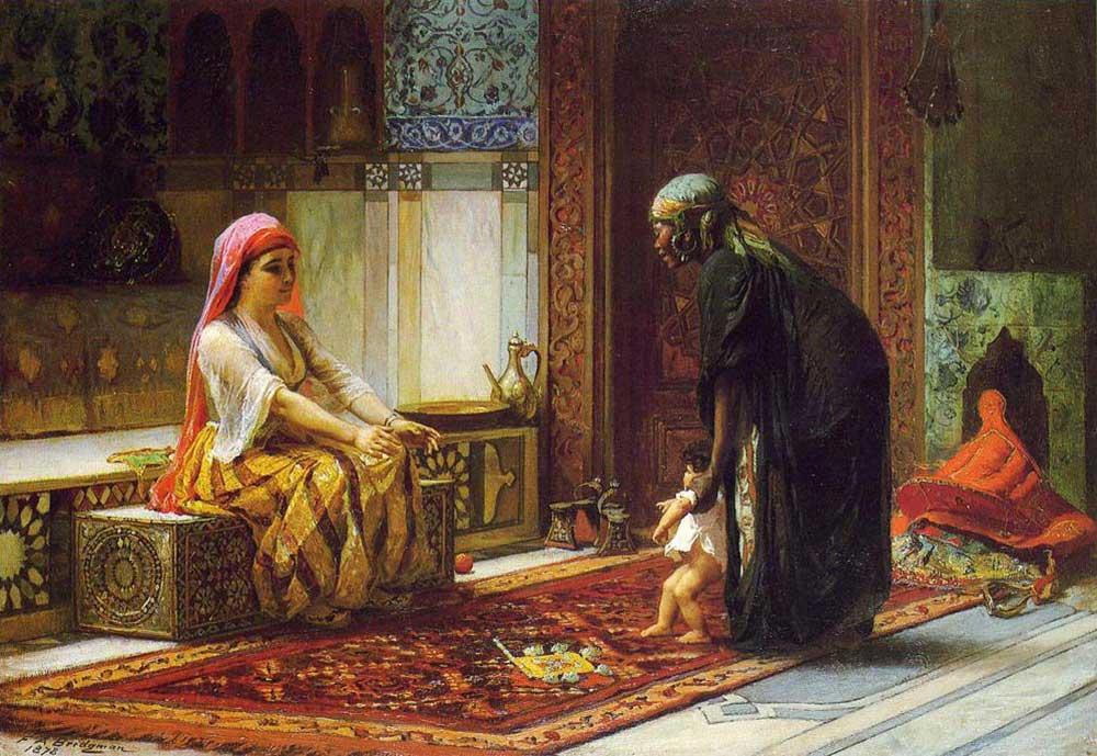 Frederick Arthur Bridgman Anne ve Çocuğu