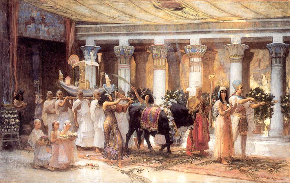 Frederick Arthur Bridgman Anubis için Tören