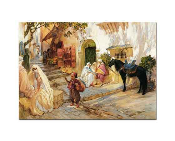 Frederick Arthur Bridgman Cezayir'de Sokak