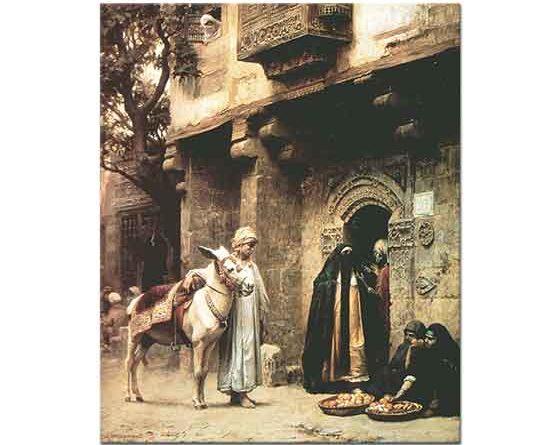 Frederick Arthur Bridgman Kahire'de Sokak