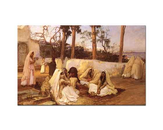 Frederick Arthur Bridgman Mezarlıkta Kadınlar